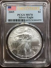 2005 Silver American Eagle MS-70 PCGS (First Strike)