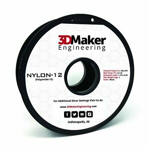 Nylon-12 Pro Series 3D Printer Filament - 3DMaker Engineering