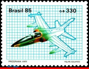 2016 BRAZIL 1985 AMX SUBSONIC AIR FORCE, JOINT PROGRAM WITH ITALY, AVIATION, MNH