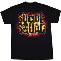 Suicide Squad Flames Logo T-Shirt