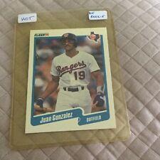 1990 Fleer #297 Juan Gonzalez Rookie Texas Rangers Baseball Card
