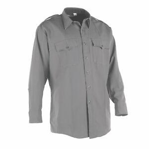 Men's ~FLYING CROSS SH099C Long Sleeve Gray Police Shirt~ 15 x 34 Brand NEW