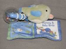 Fisher Price Replacement Blue Green Bird Rattle Mommy Fly High Crinkle Book Toy