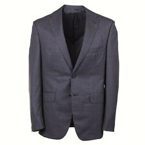 Oxxford Regular-Fit 'Randolph' Solid Medium Gray Super 140s Wool Suit 42R