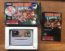 Donkey Kong Country SNES cartridge + Box + Manual