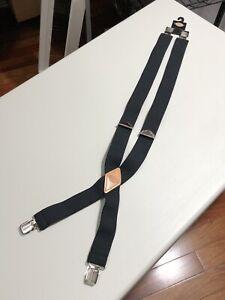 Dickies Men's Elastic Work Suspenders Braces Black Size Adjustable