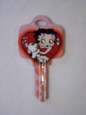 """Betty Boop """"Betty & Pudgy"""" Schlage House Key Blank / New"""