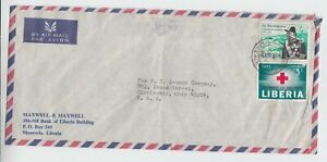 Liberia # 410 433 Commercial Cover to OH Churchill Red Cross