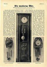 Dr. Felix Poppenberg Die moderne Uhr Kunstgewerbe Morawe Th.T.Heine Ringer..1902