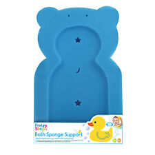 Baby Bathtime Teddy Comfort Soft Support Bath Sponge Mat Toddler Newborn Nonslip