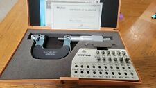 Mitutoyo Screw Thread Micrometer 126 137126 8006 Pc Anvil Sets 001 Grads