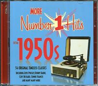 MORE NUMBER 1 HITS OF THE 1950s - 2 CD BOX SET - 54 ORIGINAL TIMELESS CLASSICS