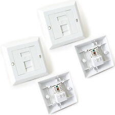 2x Single Port CAT6 IDC Wall Outlet Face Plate - 1 Way RJ45 Network Ethernet