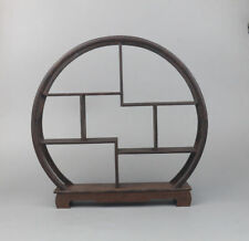 display shelf new China brown Ji-chi wood rosewood carved round style stand