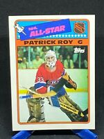 Patrick Roy 1988-89 Topps Hockey Sticker Insert Card #12 Montreal Canadiens