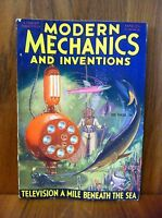 MODERN MECHANICS MAGAZINE MARCH 1932 TELEVISION A MILE BENEATH THE SEA