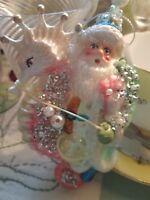 Santa Claus Riding Seahorse Christmas Tree Ornament ~ Brighten the Season ~ NWT