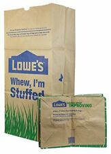 Leaf and Lawn Yard Waste Bags Large Brown Compostable Refuse Paper Bag 25 Count