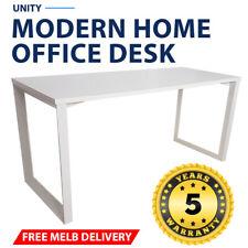 Unity Modern Home Office Desk White Frame White Desk Top
