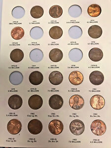 Coin Folder for 1959-1998 Lincoln Memorial Cents by Littleton (56 COINS!!!)