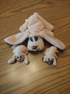 Vtg Pound Puppies Plush Doll Stuffed Toy Dog Family 1996 Galoob