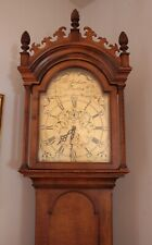 Curly Maple Tall Case Grandfather Clock by Colonial Clock Company Zealand Mich