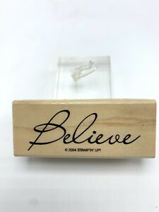 Stampin Up Rubber Stamp Believe Word Stamp 2004