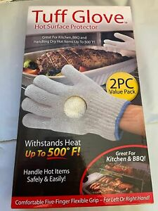Tuff Glove Hot Surface Protector As Seen On TV 2 Pieces Beige Brand New 1 box