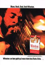 PUBLICITE  1972   WINSTON  cigarettes  BLUES ROCK& SOUL