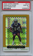 2005 TOPPS CHROME 213 DeMARCUS WARE GOLD #/399 XFRACTOR PSA 10 Pop 5 Cowboys