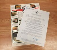 50th Anniversary of the End of WWII World Of Stamps Collectible and COA *READ*