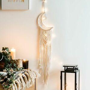 Moon Star Bohemian Tassel Macrame Woven Wall Hanging Tapestry Home Decor Gift