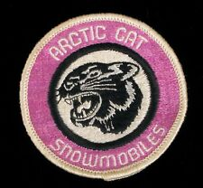 VINTAGE PINK ARCTIC CAT SNOWMOBILES PATCH SNOW MOBILING WINTER SPORTS JACKET !