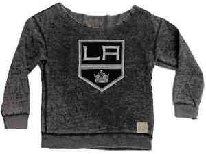 Los Angeles Kings Retro Brand WOMEN Gray Cutoff Vintage Lightweight Sweatshirt