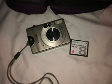 Vintage Canon PowerShot S100 Digital ELPH 201MP FC 8M Flash Card & Aspen Case
