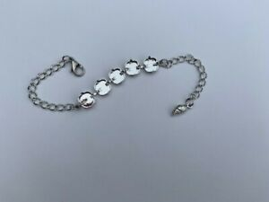 Empty cup chain Tennis Bracelet Handmade Round Bezel 8 mm 4 colors 15 cups chain for jewelry making Wholesale Lot prices