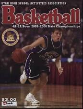 High School Basketball Program 2005 2006 Utah State Championship H.S.
