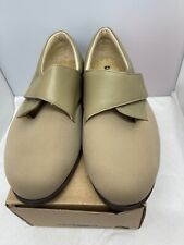 Cosyfeet Beige Comfortable Shoes - Large Strap - Size 8