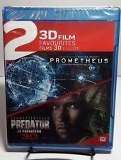 Prometheus/Predator Double Feature(3D Blu-ray Disc,2014,2-Disc Set,Canadian)NEW