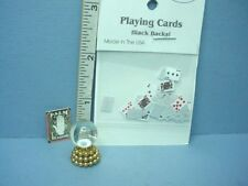 Dollhouse Miniature Crystal Ball, Playing Cards, Book Cover 1/12th Handcrafted