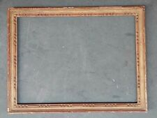 Beau CADRE doré, bois mouluré et sculpté à décors de perles, LOUIS XVI, fin 19è