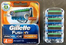 Gillette Fusion Proglide Power Razor Blades New Single 4 pack Made In Germany