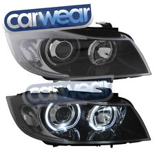 BMW E90/E91 SEDAN WAGON 05-08 LED WHITE ANGEL EYES RINGS PROJECTOR HEAD LIGHTS