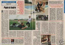 Coupure de presse Clipping 1989 Jean Pierre Papin la Foudre  (2 pages)