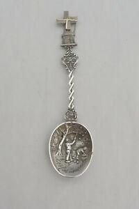 Vintage Silver Windmill Tea Spoon - Herftsmaand - Autumn Month Picking Apples GS