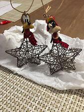 Disney's Goofy and Pluto Christmas Holiday Ornaments