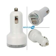Charger Auto Charger 12V 1A Dual USB IPHONE Samsung Xiaomi LG Huawei White