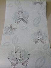 2,43€/m² Coswig Tapete 7548-06 Blumen Romantik Petrol Blau Modern Biedermeier