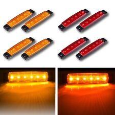 4 X Red + 4 X Amber 12V 6 SMD Side LED Marker Rear Light for Boat Truck Trailer