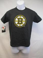 New Boston Bruins Youth Size Large L Black Distressed Print Shirt MSRP $18